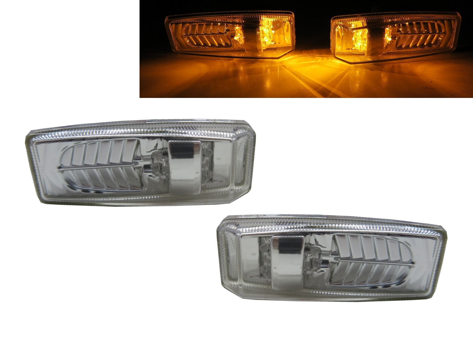 CrazyTheGod SL-CLASS R129 1989-2002 Roadster 2D LED Side Marker Light Lamp Chrome for Mercedes-Benz