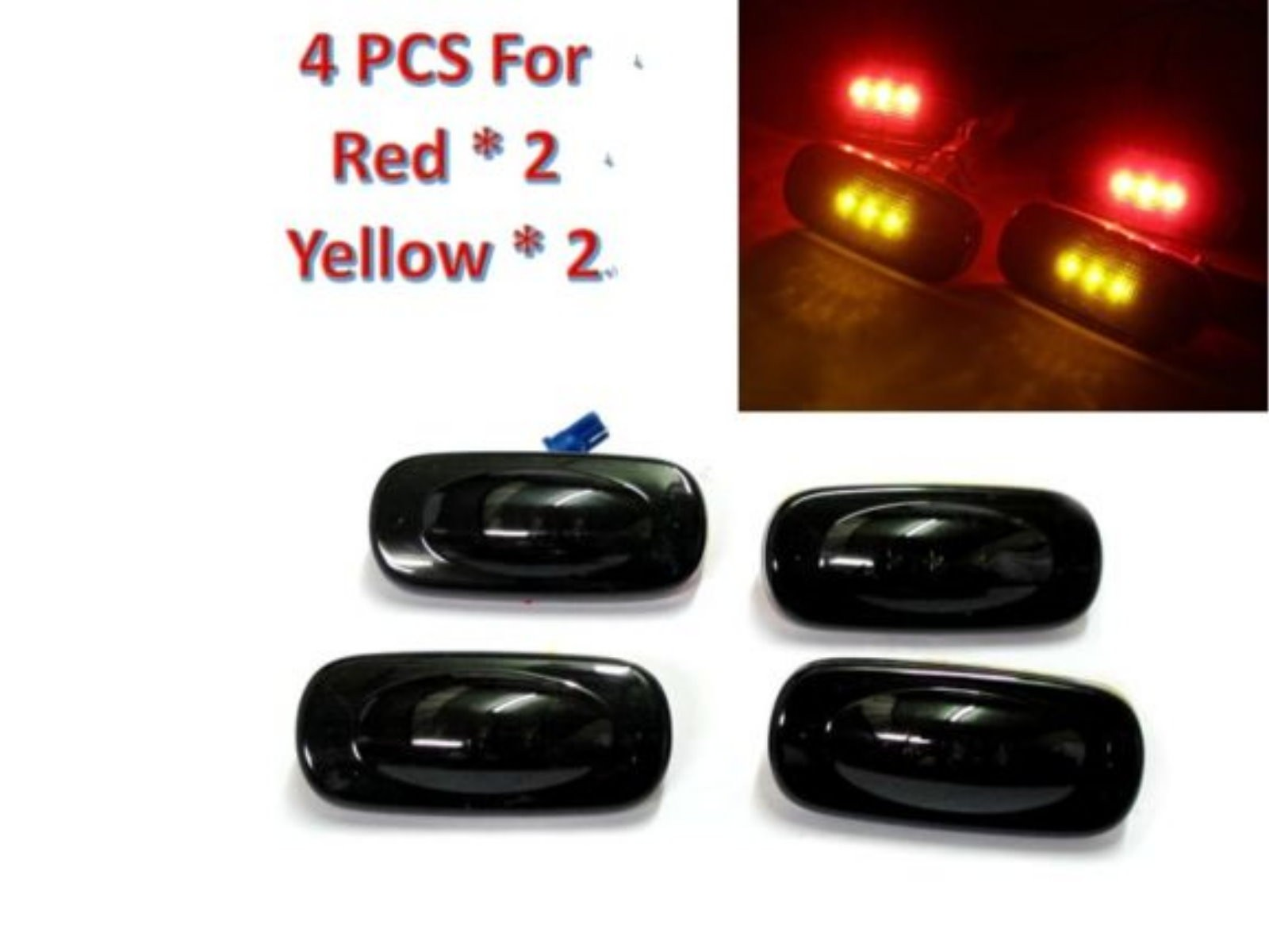 CrazyTheGod Ram 2500 3500 Third generation 2003-2009 Pickup 2D/4D LED Side Fender Marker Light Lamp Smoke for DODGE