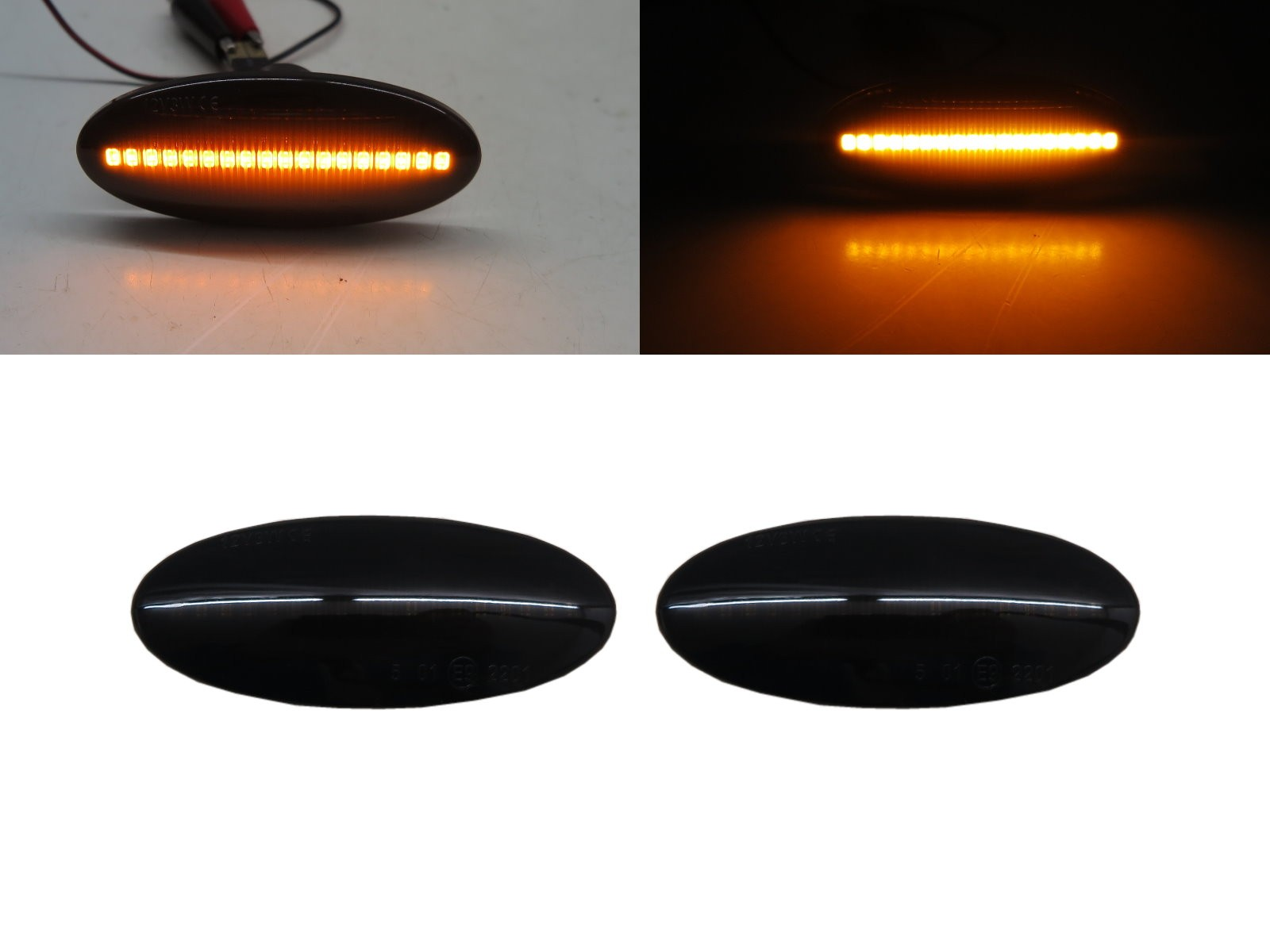 CrazyTheGod ESQ First generation 2015-2019 SUV 5D LED Dynamic Turn signal Side Marker Light Lamp Smoke for INFINITI