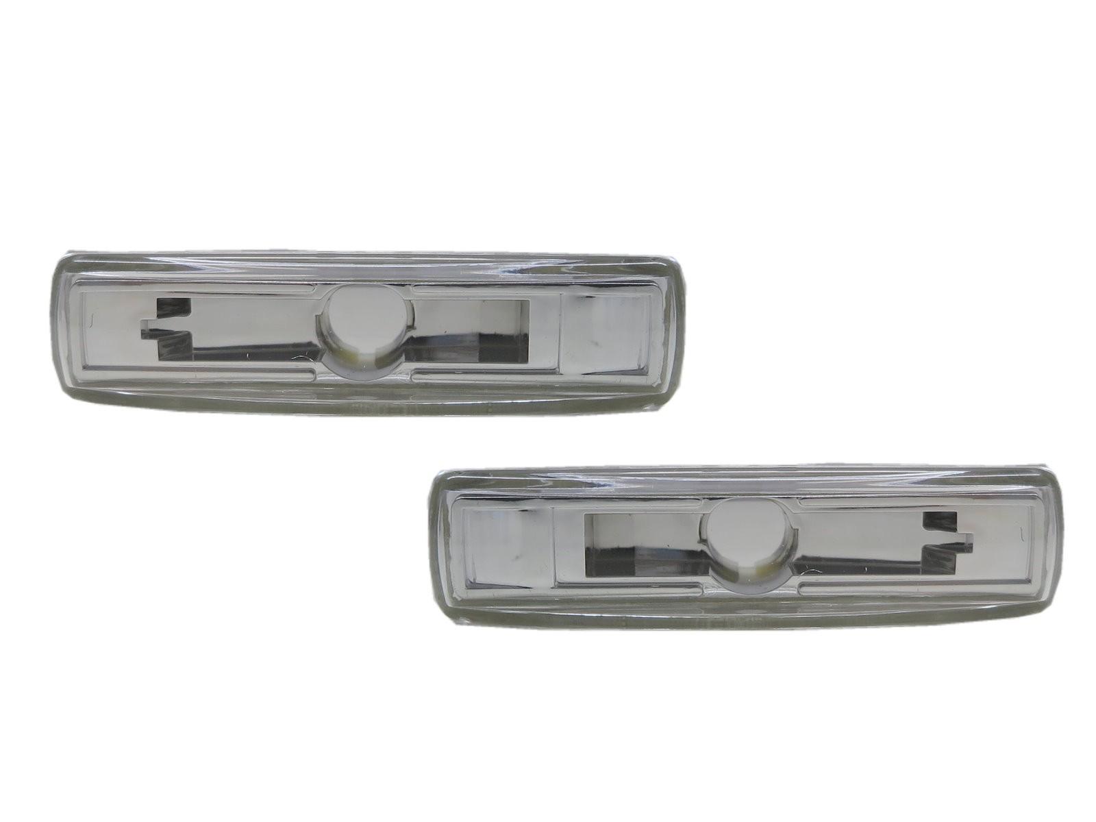 CrazyTheGod Range Rover Sport L320 First generation 2005-2013 SUV 5D Clear Side Marker Light Lamp Chrome for LAND ROVER