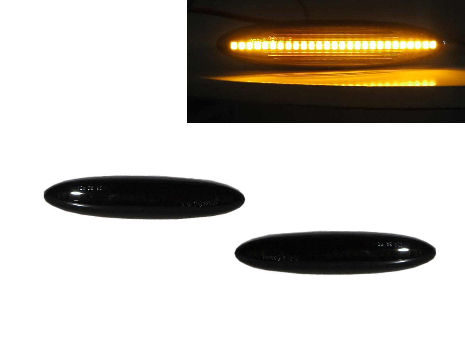 CrazyTheGod ES350 2006-2009 Coupe/Convertible 2D LED Dynamic Turn signal Side Fender Marker Light Lamp Smoke for LEXUS