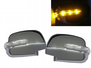 CrazyTheGod RX330/RX350/RX400h XU30 2003-2009 Amber LED Signal Mirror CHROME for LEXUS