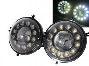 CrazyTheGod MINI R56 Second generation 2006-2013 Coupe 2D LED DRL Daytime Running Fog Light Lamp Black for MINI