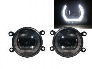 CrazyTheGod Astra H 2004-2009 Sedan/Hatchback/Wagon 3D/4D/5D DRL Ubar LED Glass Fog Light Lamp Black for SATURN