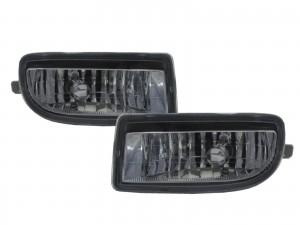 CrazyTheGod LAND CRUISER FJ100 1998-2007 Wagon 5D Clear Fog Light Lamp Chrome V3 for TOYOTA