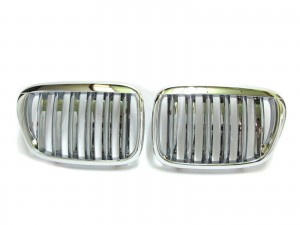 CrazyTheGod 5-Series E39 1995-2003 Sedan/Wagon 4D/5D X5 LOOK GRILLE/GRILL Chrome for BMW
