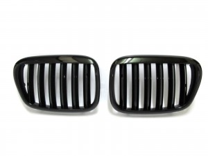 CrazyTheGod 5-Series E39 1995-2003 Sedan/Wagon 4D/5D X5 LOOK GRILLE/GRILL Gloss Black for BMW