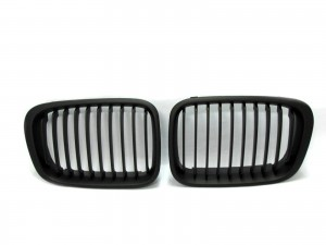 CrazyTheGod 3-Series E46 1998-2001 PRE-FACELIFT Sedan/Wagon 4D/5D M3Look GRILLE/GRILL Matt Black for BMW