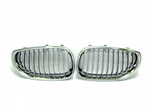 CrazyTheGod 5-Series E60/E61 Fifth generation 2003-2009 Sedan 4D GRILLE/GRILL Chrome/Black for BMW