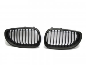 CrazyTheGod 5-Series E60/E61 Fifth generation 2003-2009 Sedan 4D GRILLE/GRILL Matt Black for BMW