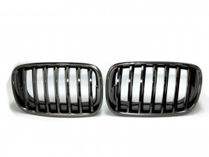 CrazyTheGod X5 E70 Second generation 2007-2013 Wagon 5D GRILLE/GRILL Titanium Black for BMW
