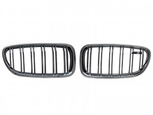 CrazyTheGod 5-Series F10/F11 2011-present Sedan/Wagon 4D/5D ///M Logo M5Look GRILLE/GRILL Chrome for BMW