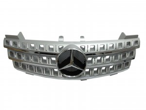 CrazyTheGod W164 2005-2009 Pre-Facelift GRILLE/GRILL 3FIN CHROME/SILVER for Mercedes-Benz