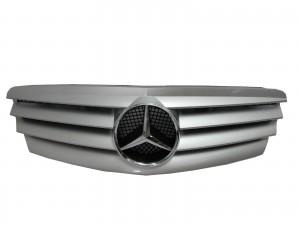 CrazyTheGod W211 2002-2006 Pre-Facelif GRILLE/GRILL 4FIN SILVER for Mercedes-Benz