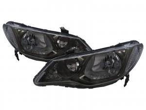 CrazyTheGod Ciimo 2012-2016 Sedan 4D Clear Headlight Headlamp Smoke for Dongfeng LHD