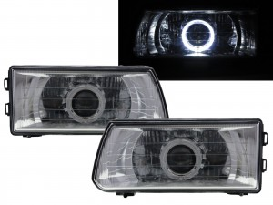 CrazyTheGod Dodge 1000 1999-present VAN 4D Guide LED Angel-Eye Projector Headlight Headlamp Chrome for DODGE RHD
