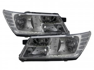 CrazyTheGod Journey JC 2009-present SUV 5D Clear Headlight Headlamp Chrome for DODGE LHD