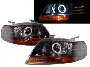 CrazyTheGod Kalos 2002-2008 Hatchback 3D/5D COB Projector Headlight Headlamp Black for DAEWOO LHD