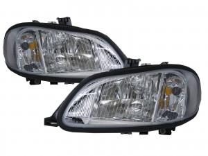 CrazyTheGod M2 2002-Present Truck 2D Clear Headlight Headlamp Chrome for Freightliner LHD