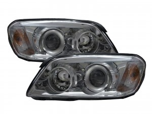 CrazyTheGod Captiva First generation 2006-2010 PRE-FACELIFT Wagon 5D Projector Headlight Headlamp Chrome for CHEVROLET CHEVY LHD