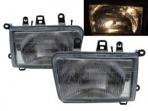 CrazyTheGod Deer 2002-2003 SUV 5D Clear Glass Headlight Headlamp Chrome for Great Wall LHD