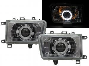 CrazyTheGod Deer 2002-2003 SUV 5D Guide LED Angel-Eye Projector Headlight Headlamp Chrome for Great Wall RHD