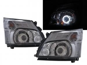 CrazyTheGod 300 Series Second generation 2011-present Truck 2D CCFL Projector Headlight Headlamp Chrome for HINO RHD