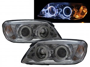 CrazyTheGod Captiva 2006-2010 PRE-FACELIFT Wagon 5D COB Projector Headlight Headlamp Chrome for HOLDEN LHD
