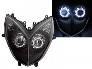 CrazyTheGod Racing 2013-2014 Motorcycles CCFL Projector LED Headlight Headlamp Black for KYMCO