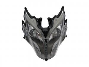 CrazyTheGod Racing King Motorcycles Clear Headlight Headlamp Black for KYMCO