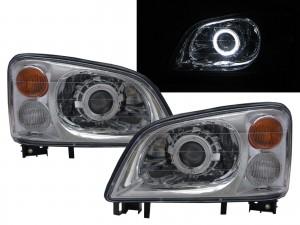 CrazyTheGod Veryca 2000-2009 Truck 2D/4D Guide LED Angel-Eye Projector Headlight Headlamp Chrome for Mitsubishi RHD