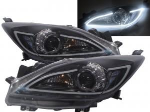 CrazyTheGod Mazda3/Axela BL Second generation 2009-2013 Sedan/Hatchback 4D/5D Projector R8Look Headlight Headlamp Black US V1 for MAZDA RHD