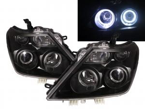 CrazyTheGod Patrol Royale 2015-Present Wagon/SUV 5D Guide LED Angel-Eye Projector Headlight Headlamp Black for NISSAN LHD