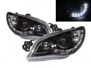 CrazyTheGod IMPREZA GD GG Second generation 2006-2007 Facelift Sedan/Hatchback 4D/5D R8Look LED Bar Headlight Headlamp Black for SUBARU LHD