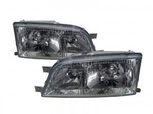 CrazyTheGod Istana 1995-2004 Minibus/VAN 4D Clear Glass Headlight Headlamp Chrome for SsangYong LHD