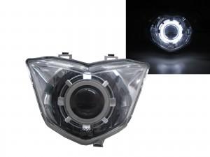 CrazyTheGod GT125 Motorcycles CCFL Projector Headlight Headlamp Chrome for SYM