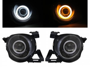 CrazyTheGod SOARER Z30 1992-2000 Coupe 2D Cotton Halo Projector Headlight Headlamp Black for TOYOTA