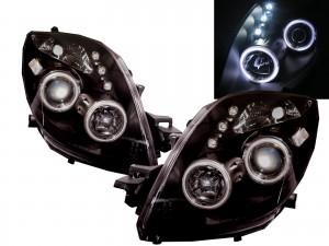 CrazyTheGod Yaris XP90 Second generation 2005-2008 Pre-Facelift Hatchback 3D/5D CCFL Projector Headlight Headlamp Black for TOYOTA RHD