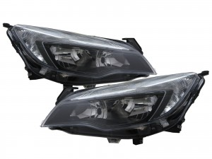 CrazyTheGod Astra Sixth generation 2010-2015 Hatchback 5D Clear Headlight Headlamp Black for VAUXHALL LHD