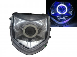 CrazyTheGod Cygnus 2005-2007 CCFL Projector Headlight Headlamp EUROPE Chrome for YAMAHA