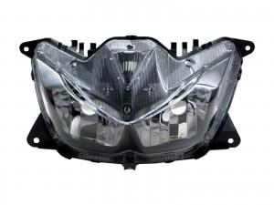 CrazyTheGod Force 2016-present Scooters Clear Headlight Headlamp Black for YAMAHA