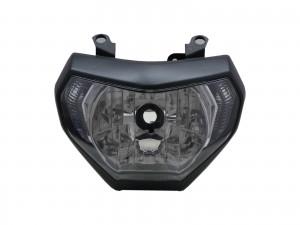 CrazyTheGod MT series MT-09 2014-Present Motorcycles Clear Headlight Headlamp Chrome for YAMAHA