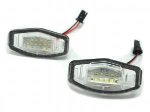 CrazyTheGod TL UA6-UA7 Third generation 2004-2008 Sedan 4D LED License Lamp Clear for ACURA