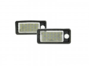 CrazyTheGod A4 A4/S4 B6 8E/8H 2001-2005 Sedan/Wagon/Convertible 2D/4D/5D LED W/ Canbus License Lamp White for AUDI