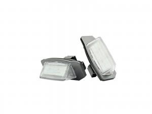 CrazyTheGod Lancer 2006-Present Hatchback 5D LED License Lamp White for Mitsubishi