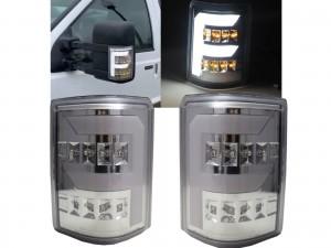 CrazyTheGod F250/F350/F450/F550/SUPER DUTY 2008-2016 Pickup Truck/Ute/Bakkie 2D LED FLook Mirror Light Chrome for FORD