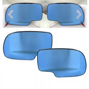 CrazyTheGod Escalade Second generation 2000-2007 SUV 5D LED Signal Light Anti-Glare MIrror Glass Blue for CADILLAC