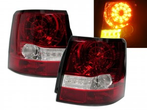 CrazyTheGod Range Rover Sport 2006-2009 L320 LED Tail Rear Light Red/Clear for Land Rover