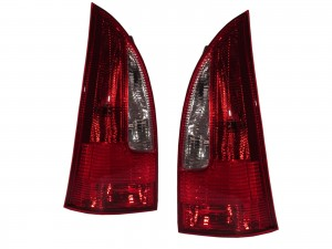 CrazyTheGod PREMACY First generation 1999-2001 PRE-FACELIFT MPV 5D Clear Tail Rear Light Red for MAZDA