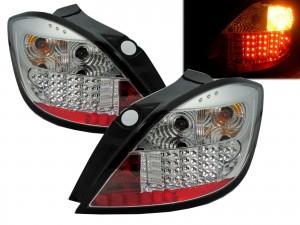 CrazyTheGod Astra H 2004-2009 Hatchback 5D LED Tail Rear Light Chrome for SATURN
